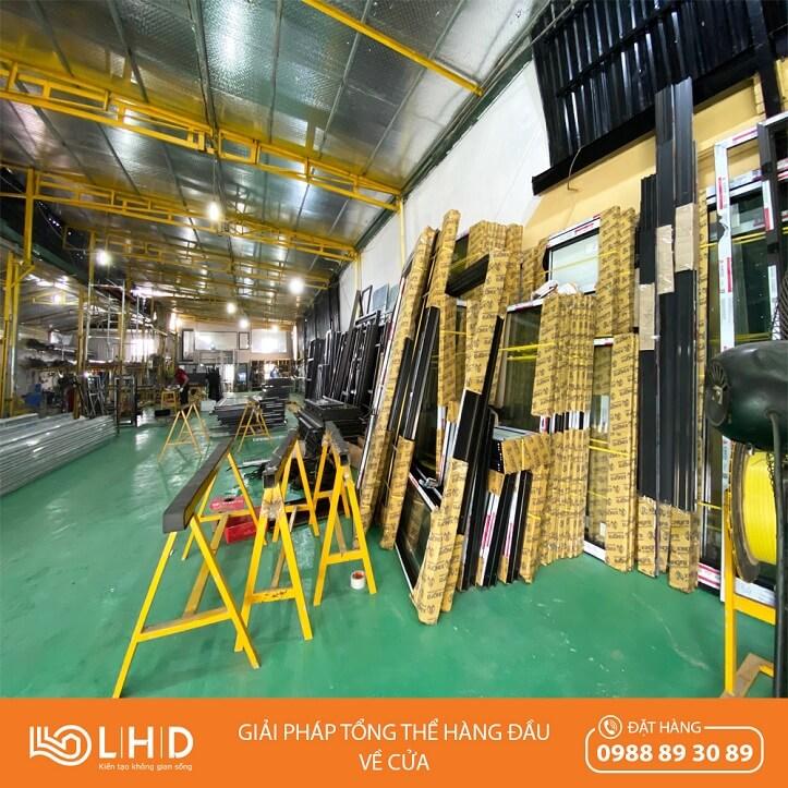 nhà máy sản xuất cửa nhôm xingfa tại lhdgroup