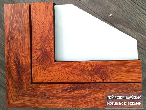 cửa nhôm vân gỗ hà nội