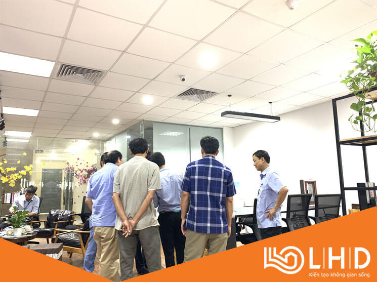 ubnd xã đông phương thái bình thăm showroom cửa nhôm xingfa lhdgroup 1