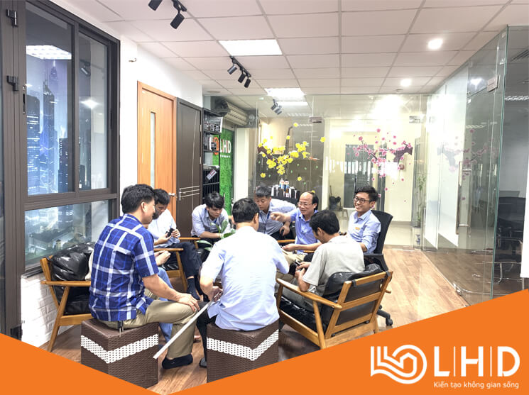 ubnd xã đông phương thái bình thăm showroom cửa nhôm xingfa lhdgroup